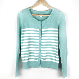 Levis   Womens Teal Striped Cardigan Sweater XS
